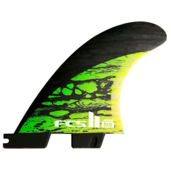 QUILHA FCS 2 MAYHEM PERFORMANCE CORE CARBON (MEDIUM VERDE / LARGE AZUL)